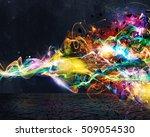 modern abstract motion banner...   Shutterstock . vector #509054530