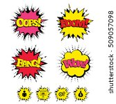 comic boom  wow  oops sound... | Shutterstock .eps vector #509057098