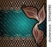 elegant green   gold background ... | Shutterstock . vector #509060980
