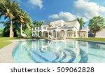 3d rendering villa   Shutterstock . vector #509062828