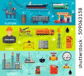 oil industry horizontal banners ... | Shutterstock .eps vector #509063158