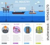 oil industry infographics with... | Shutterstock .eps vector #509063170