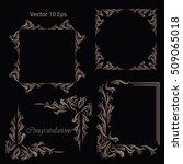 vintage frames  dividers ... | Shutterstock .eps vector #509065018