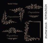 vintage frames  dividers ... | Shutterstock .eps vector #509065024