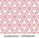 red gradient seamless floral... | Shutterstock .eps vector #509066239