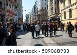 istanbul   april 26  tourists... | Shutterstock . vector #509068933