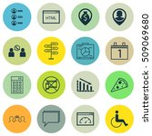 set of 16 universal editable... | Shutterstock .eps vector #509069680
