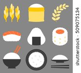 rice icon vector  flat design | Shutterstock .eps vector #509075134