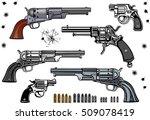 guns  revolver collection set... | Shutterstock .eps vector #509078419
