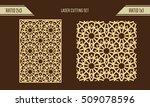 diy laser cutting set. woodcut... | Shutterstock .eps vector #509078596