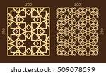 laser cutting set. woodcut... | Shutterstock .eps vector #509078599
