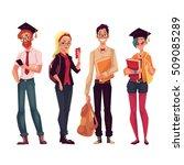 group of full height college ... | Shutterstock .eps vector #509085289