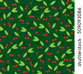 seamless pattern with berry... | Shutterstock .eps vector #509093086