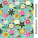 seamless pattern with beautiful ... | Shutterstock .eps vector #509094166