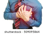 man with heart attack pressing... | Shutterstock . vector #509095864