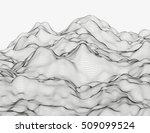 wavy linear monochrome... | Shutterstock .eps vector #509099524