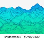 wavy linear colorful procedural ... | Shutterstock .eps vector #509099530