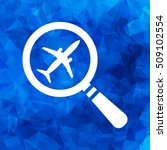 search airplane pictogram flat...