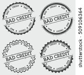 bad credit insignia stamp... | Shutterstock .eps vector #509106364