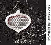 merry christmas silver glitter...   Shutterstock .eps vector #509106469