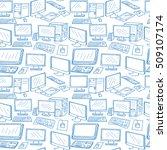 computer technology seamless... | Shutterstock . vector #509107174