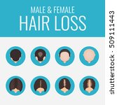 male and female pattern hair... | Shutterstock .eps vector #509111443
