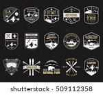 stamps for outdoors camp.... | Shutterstock . vector #509112358