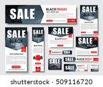 set web banner standard size... | Shutterstock .eps vector #509116720