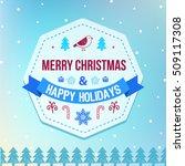 vector christmas and winter... | Shutterstock .eps vector #509117308