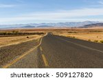 Small photo of A road leads into the countryside in the Leribe district of the mountainous South African country, Lesotho