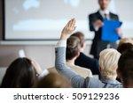 rear view of businesswoman... | Shutterstock . vector #509129236
