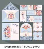 big set of invitation cards for ... | Shutterstock .eps vector #509131990