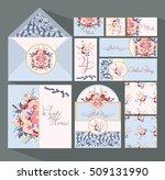 big set of invitation cards for ... | Shutterstock .eps vector #509131990