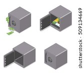 set of isometric safe boxes... | Shutterstock .eps vector #509134669