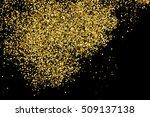 gold glitter texture isolated... | Shutterstock .eps vector #509137138