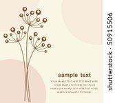 vector flower background | Shutterstock .eps vector #50915506