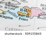 map view of port au prince ... | Shutterstock . vector #509155843
