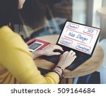 web design domain seo words | Shutterstock . vector #509164684