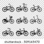 set of retro bicycles... | Shutterstock .eps vector #509165470