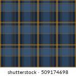 seamless lumberjack blue plaid...   Shutterstock .eps vector #509174698