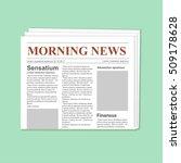 newspaper journal vector... | Shutterstock .eps vector #509178628