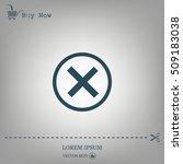 delete icon. cross sign in... | Shutterstock .eps vector #509183038
