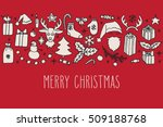set of christmas hand drawn... | Shutterstock .eps vector #509188768