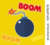 boom  text  typography  word ... | Shutterstock .eps vector #509189878