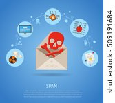 cyber crime   spam concept with ... | Shutterstock .eps vector #509191684