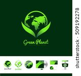 Green Planet Earth Continents...