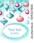 christmas background with with... | Shutterstock . vector #509207800