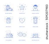 vector illustration of icons... | Shutterstock .eps vector #509207983