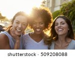 portrait of three young adult... | Shutterstock . vector #509208088