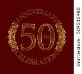 50th anniversary celebration... | Shutterstock .eps vector #509212480